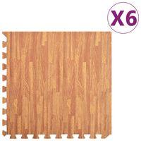 vidaXL 6 db famintás EVA habszivacs padlószőnyeg 2,16 ㎡