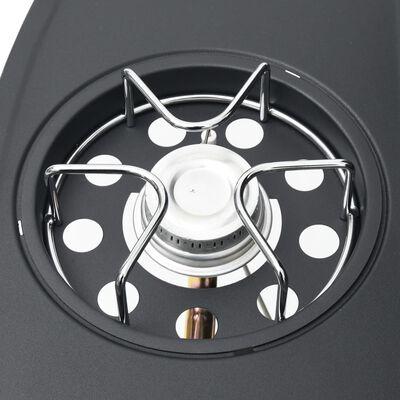 vidaXL fekete és ezüst gázgrillsütő 4+1 főzőfelülettel