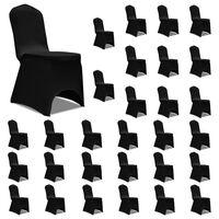 vidaXL 30 db fekete sztreccs székszoknya
