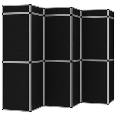 vidaxl fekete 18 paneles összecsukható kiállítófal 362 x 200 cm