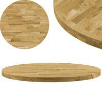 vidaXL kerek tömör tölgyfa asztallap 44 mm 800 mm