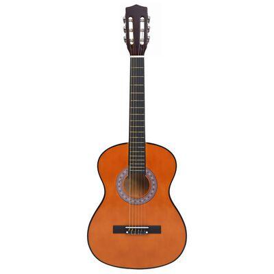 """vidaXL 8 darabos klasszikus gitár gyerek- és kezdőszett 3/4 36"""""""