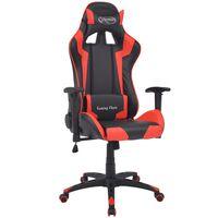 vidaXL piros dönthető versenyautó ülés alakú műbőr irodai szék