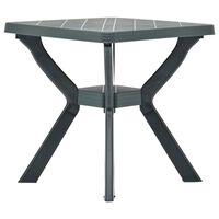 vidaXL zöld műanyag bisztróasztal 70 x 70 x 72 cm