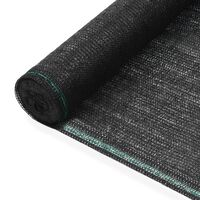 vidaXL fekete HDPE teniszháló 1 x 50 m