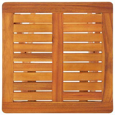 vidaXL 2 db tömör akácfa napozóágy asztallal és párnákkal