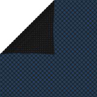 vidaXL fekete és kék napelemes lebegő PE medencefólia 600 x 400 cm