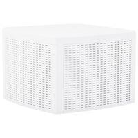 vidaXL fehér műanyag kisasztal 54 x 54 x 36,5 cm