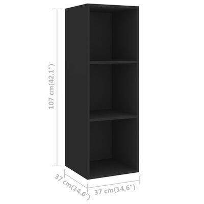 vidaXL 2 részes fekete forgácslap TV-szekrény szett