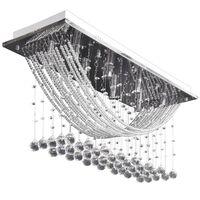 Fehér mennyezeti lámpa csillogó üvegkristály gyöngyökkel 29 cm