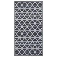 vidaXL fekete PP kültéri szőnyeg 80 x 150 cm