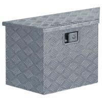 vidaXL ezüstszínű trapéz alakú alumíniumdoboz 70 x 24 x 42 cm