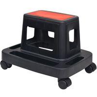 vidaXL gurulós műhelyszék tárolórekesszel 150 kg