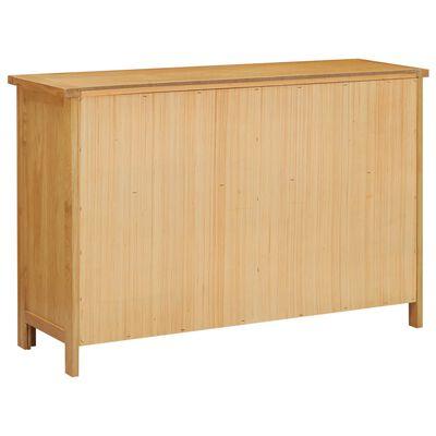 vidaXL tömör tölgyfa fiókos szekrény 105 x 33,5 x 73 cm