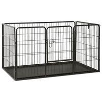 vidaXL acél kutyakennel kölyökkutyáknak 125 x 80 x 70 cm
