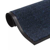 vidaXL négyszögletes szennyfogó szőnyeg 90 x 150 cm kék