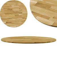vidaXL kerek tömör tölgyfa asztallap 23 mm 600 mm