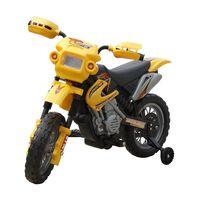Gyerek Elektromos Sárga Motorkerékpár