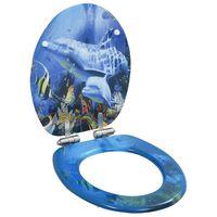 vidaXL delfinmintás MDF WC-ülőke lassan csukódó fedéllel