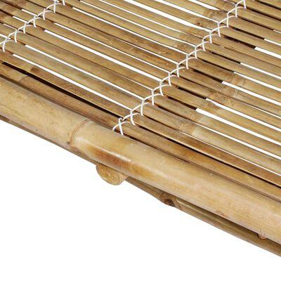 vidaXL kétszemélyes bambusz napozóágy párnákkal