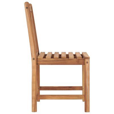 vidaXL 8 db tömör tíkfa kerti szék párnával