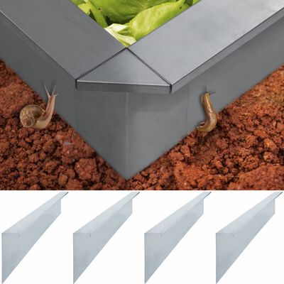 vidaXL 4 db horganyzott acél csigakerítés-lemez 150 x 7 x 25 cm 0,7 mm