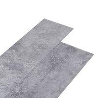 vidaXL cementszürke 2 mm-es öntapadó PVC padlóburkolat 5,02 m²