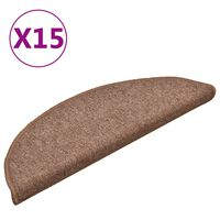 vidaXL 15 db barna lépcsőszőnyeg 56 x 17 x 3 cm