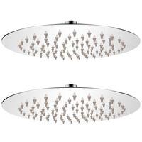vidaXL 2 db rozsdamentes acél esőztető zuhanyfej Ø 20 cm