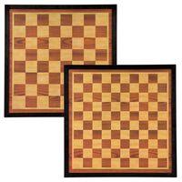Abbey Game barna és bézs színű fa sakk- és dámatábla 41 x 41 cm