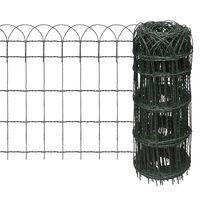 vidaXL kerti porszórt bevonatú vas szegélyező kerítés 25 x 0,65 m