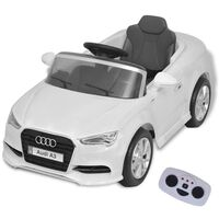vidaXL elektromos Audi A3 játékautó távirányítóval fehér
