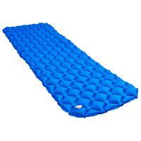vidaXL kék felfújható matrac 58 x 190 cm