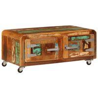 vidaXL tömör újrahasznosított fa dohányzóasztal 85 x 55 x 40 cm