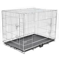 Összecsukható fém kutyaketrec XL