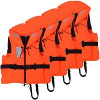 vidaXL 4 db mentőmellény 100 N 70-90 kg