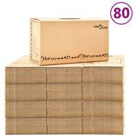 vidaXL 80 db karton költöztetődoboz XXL 60 x 33 x 34 cm
