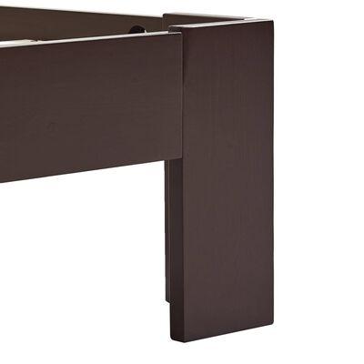 vidaXL sötétbarna tömör fenyőfa ágykeret 120 x 200 cm