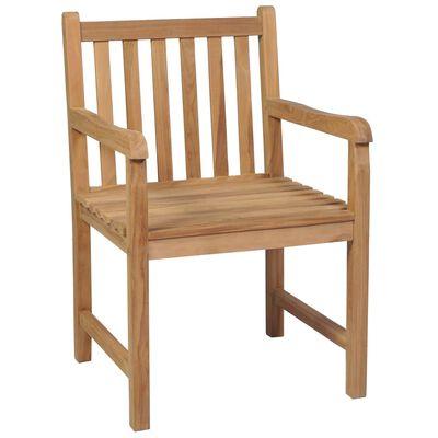 vidaXL 4 db tömör tíkfa kerti szék élénkzöld párnával