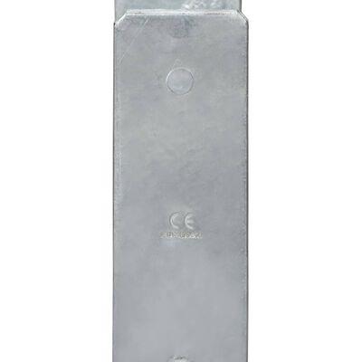 vidaXL 2 db ezüstszínű horganyzott acél kerítéshorgony 12 x 6 x 60 cm