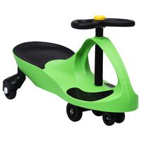 vidaXL zöld ráülős játék forgóautó kürttel
