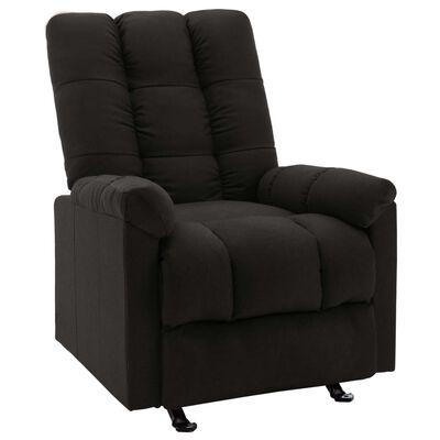 vidaXL fekete szövet dönthető szék