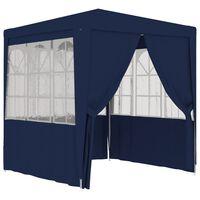 vidaXL kék rendezvénysátor oldalfalakkal 2 x 2 m 90 g/m²