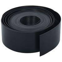 vidaXL fekete polipropilén gyepszegély 10 m 10 cm