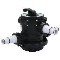 vidaXL többkimenetes 6-funkciós ABS homokszűrő-szelep 38 mm
