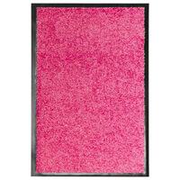 vidaXL rózsaszín kimosható lábtörlő 40 x 60 cm