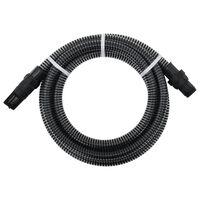 vidaXL fekete szívótömlő PVC csatlakozókkal 4 m 22 mm