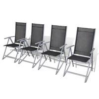 vidaXL 4 db összecsukható alumínium kerti szék