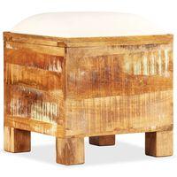 vidaXL tömör újrahasznosított fa tárolópad 40 x 40 x 45 cm