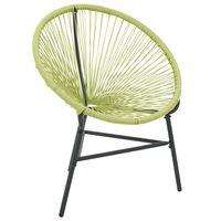 vidaXL zöld polyrattan kerti Acapulco szék
